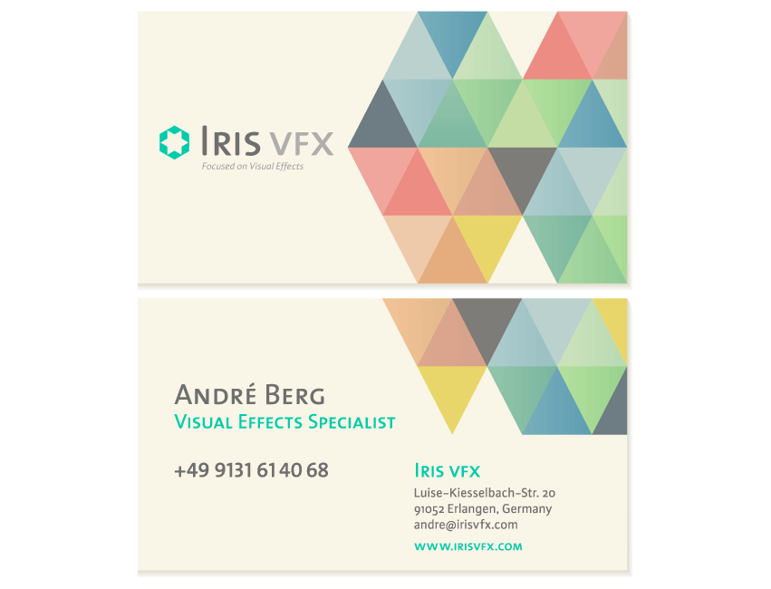 Iris VFX Business Card Front and Back
