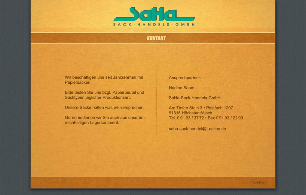 SaHa Contact Microsite